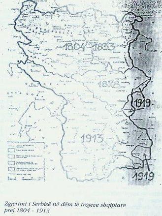 Serbia i ka borxh Kosovës territor rreth dy Kosova (1804 – 1878)